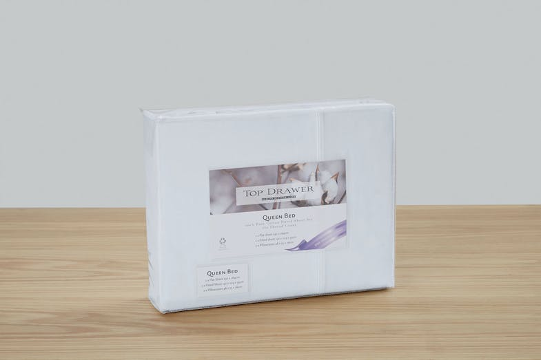 250TC Hotel Weight 100% Cotton Sheet Set by Top Drawer